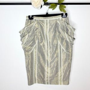 All Saints Shimmery Draped Pocket Pencil Skirt